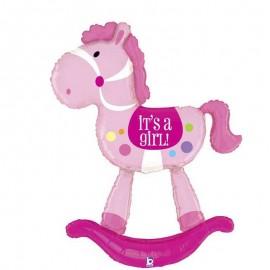 palloncino air walker cavallo a dondolo rosa