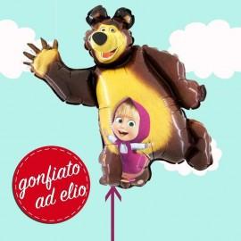 palloncino di orso di masha gonfiato ad elio