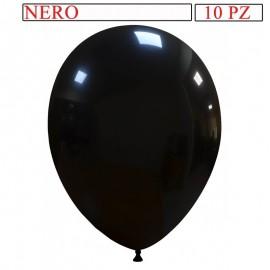 busta 10 palloncini nero 10 pollici