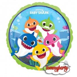 palloncino baby shark famiglia