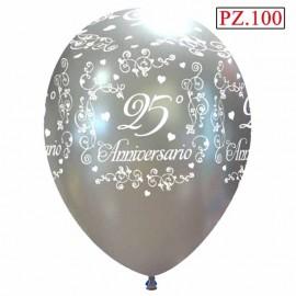 100 palloncini anniversario 25 anni matrimonio