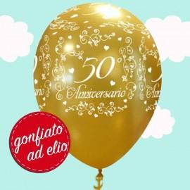 palloncino oro ad elio per anniversario di matrimonio 50 anni