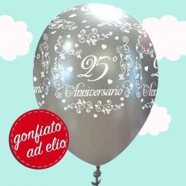 palloncino ad elio anniversario 25 anni matrimonio