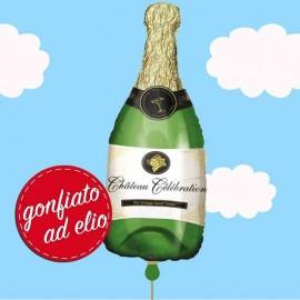palloncino a forma di bottiglia champagne ad elio