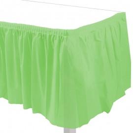 gonnellina tavola verde