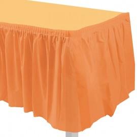 gonnellina tavolo arancione