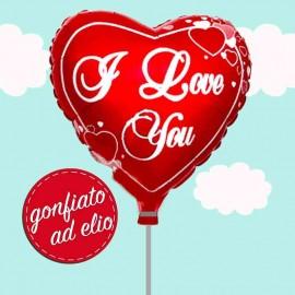 palloncino cuore rosso i love you