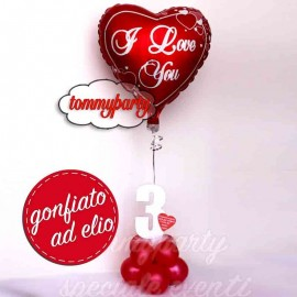 composizione san Valentino cuore i love you
