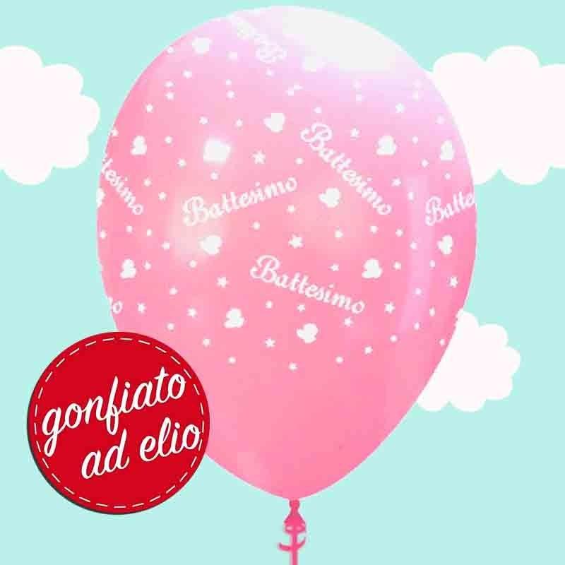 palloncino battesimo rosa ad elio
