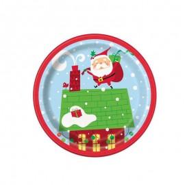 piattino carta Babbo Natale