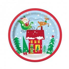 piatto grande carta Babbo Natale
