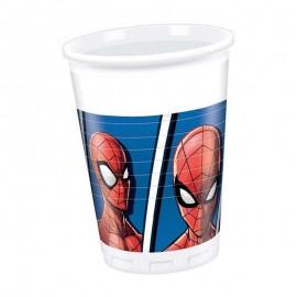 Spiderman bicchieri 8 pezzi