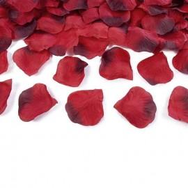 petali sintetici di rosa rosso scuro