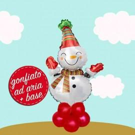 centrotavola palloncino pupazzo di neve