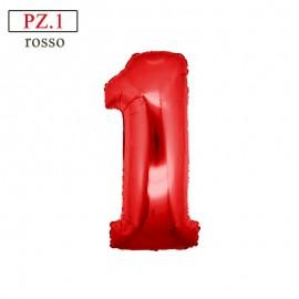 palloncino numero 1 rosso medio