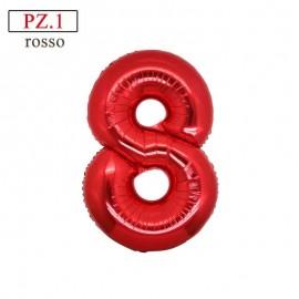 palloncino numero 8 rosso medio