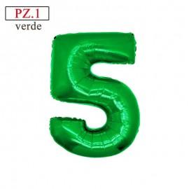 numero 5 verde misura media
