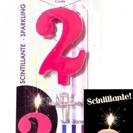 candelina numero 2 turchese