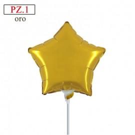 palloncino stella oro mini shape 9 pollici