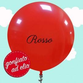 pallone cm.95 rosso pastello ad elio