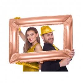 palloncino cornice rosa gold