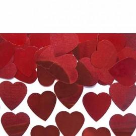 confetti cuore rossi metallizzati gr.10