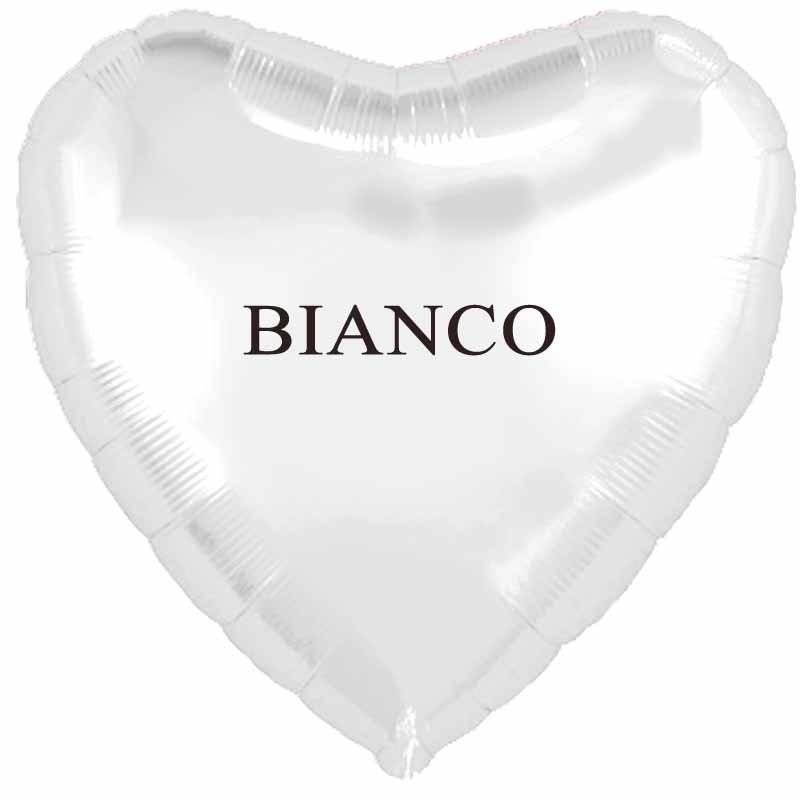 palloncino cuore bianco cm.80