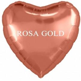 palloncino cuore rosa gold cm.80