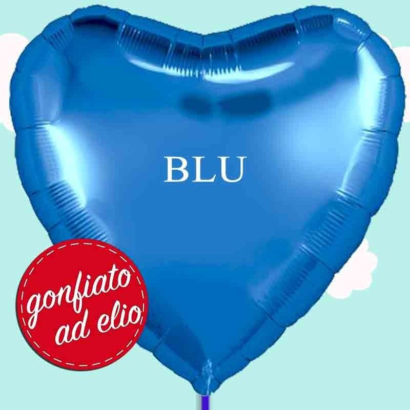 palloncino cuore blu maxi ad elio