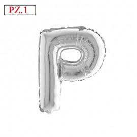 lettera P argento palloncino