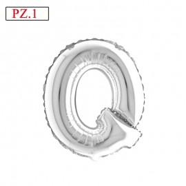 lettera Q palloncino argento