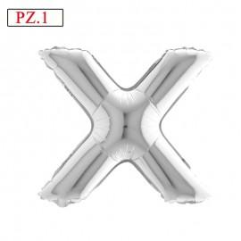 palloncino lettera X argento media