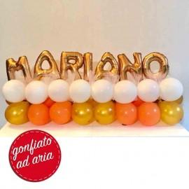 composizione palloncini nome Mariano