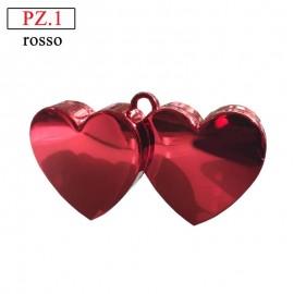 pesetto per palloncini ad elio doppio cuore rosso