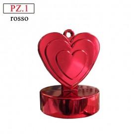 pesetto per palloncini ad elio cuore rosso
