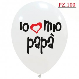 100 palloncini io amo il mio papà