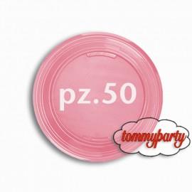 piattini piani piccoli rosa chiaro pz 50