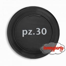 30 piatti neri plastica da cm 22