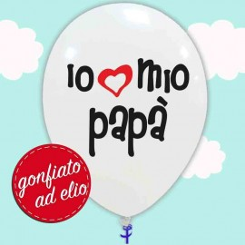 palloncino io amo il mio papà ad elio