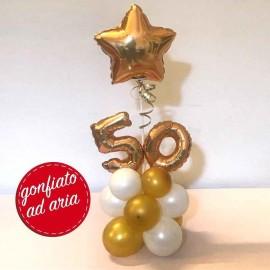 composizione 50 anni oro con stella