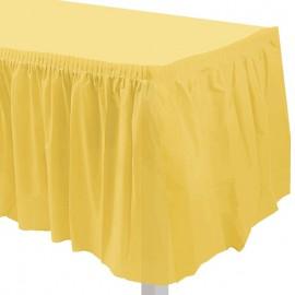 gonnellina tavolo giallo sole
