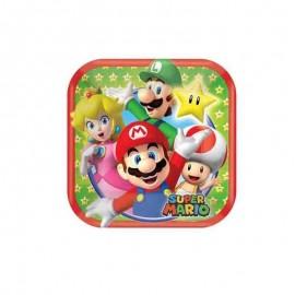 piatti piccoli quadrati super Mario