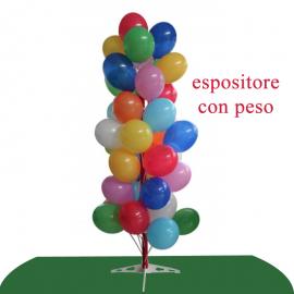 espositore palloncini albero con peso
