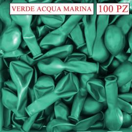 palloncini metallizzati colore verde acqua cm.13
