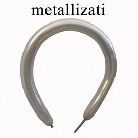 palloncini modellabili argento metallizzato