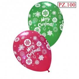palloncini verde e rosso tema christmas pz100