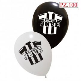 palloncini forza Juve bianco nero pz100