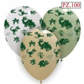 palloncini dinosauri stampa 3 colori assortiti