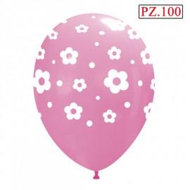 palloncino lattice stampa fiori