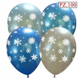 palloncini stampa fiocchi di neve colori assortiti